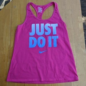 Nike Pink Tank M Racer Back Top Gym Just Do It